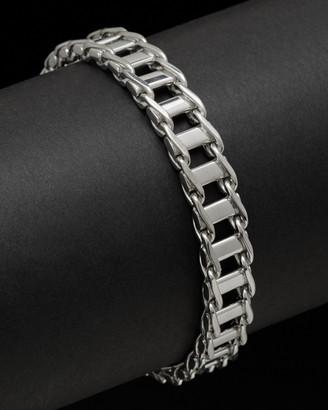 Italian Silver Railroad Link Bracelet