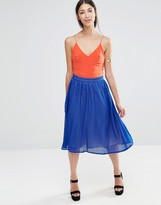 Little Mistress Pleated Midi Skirt