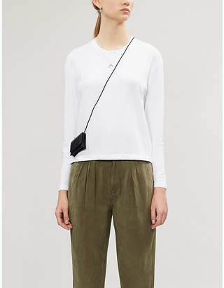 James Perse Vintage Boxy cotton-jersey long sleeve T-shirt