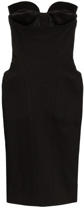 Thierry Mugler Panelled Bustier Dress
