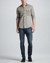 Theory Tarren Bleached Two-Pocket Shirt