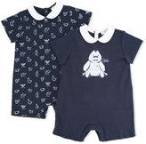 Armani Junior logo print body set - kids - Cotton - 1 mth
