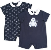 Armani Junior logo print body set - kids - Cotton - 3 mth