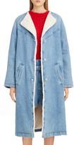 Isabel Marant Faux Fur Lined Denim Coat