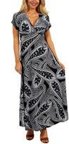 24/7 Comfort Apparel Paisley Passion Maxi Dress