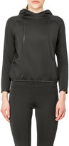 Max Studio Double Knit Hooded Scuba Pullover