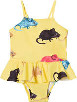 Mini Rodini Yellow Mr Mouse Skirt Swimsuit