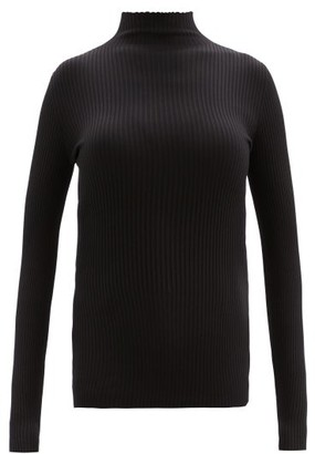 Wolford Ribbed-knit High-neck Top - Womens - Black