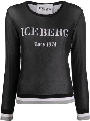 Iceberg Long Sleeve Logo Top