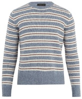 Prada Crew-neck striped wool sweater