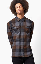 Vans Box Plaid Flannel Long Sleeve Button Up Shirt