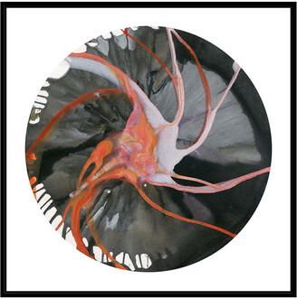 Jonathan Bass Studio Spin Art 16, Decorative Framed Hand Embellished Canvas