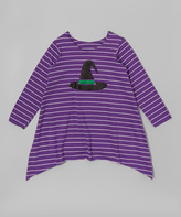 Beary Basics Purple Witch Hat Swing Dress - Infant Toddler and Girls