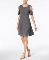 Style&Co. Style & Co Petite Flutter-Sleeve Cold-Shoulder Dress