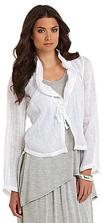 Eileen Fisher Cropped Linen Jacket