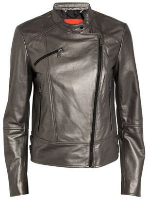 Max & Co. Metallic Leather Jacket