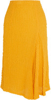 Victoria Beckham Silk-seersucker Skirt - Yellow