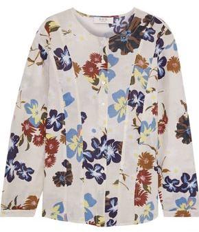 Sea Margherite Floral-print Cotton-gauze Top