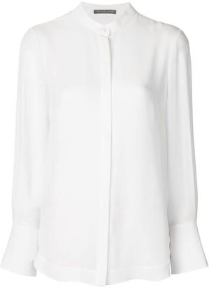 Alexander McQueen mandarin collar blouse