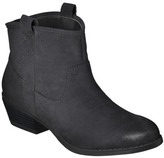 Mossimo Women's Kendall Ankle Boot - Black