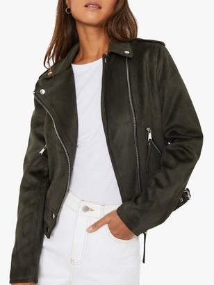 Warehouse Faux Suede Biker Jacket
