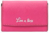 Rebecca Minkoff Like A Boss Saffiano Leather Business Card Holder