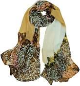 Alysee Women Gorgeous Leopard Print Chiffon Long Scarf Shawl Wrap Color