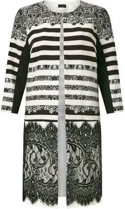M·A·C James Lakeland Print Lace Panel Trench