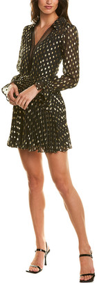 Self-Portrait Dot Fil Coupe Mini Dress