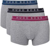 Boss 3 Pack Grey Marl Boxer Trunks