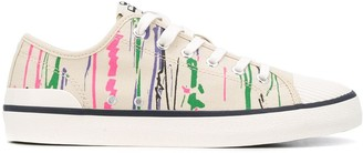 Etoile Isabel Marant Brush Stroke-Print Cotton Sneakers