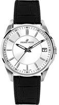 Pierre Petit Women's P-784A Serie Le Mans Silver Dial Black Leather Date Watch