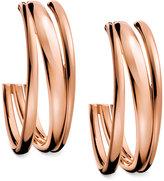 Calvin Klein Rose Gold-Tone PVD Multi-Row Hoop Earrings