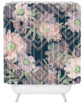 """DENY Designs Khristian A Howell Bouquet in Blue Shower Curtain by 71""""x74"""")"""