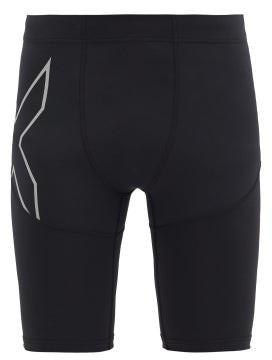 2XU Reflective-logo Compression Running Shorts - Black