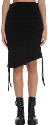 Laneus Skirt In Black Wool