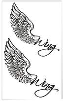 Panda Superstore Set of 2 Classic Simple Angel Wings Totem Body Tattoo Stickers Temporary Tattoos