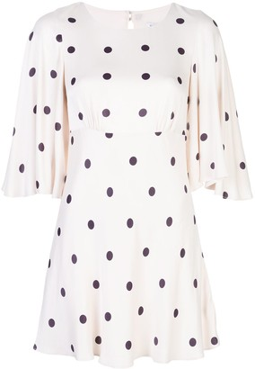 Shona Joy Shelby pola dot mini dress