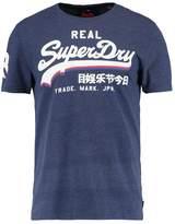 Superdry Vintage Logo Triple Drop Print Tshirt Princedom Blue Marl