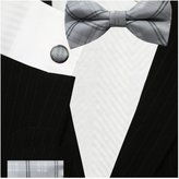 Bestow Neckties Plaid Bow Ties Set (Pre-Tied) - Cufflinks + Hanky