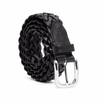 Dalgado Hand-Braided Leather Belt Black Cesare