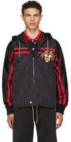 Gucci Black Angry Cat Windbreaker Jacket