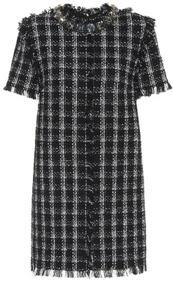 MSGM Cotton-blend tweed dress