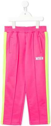 Msgm Kids Side Stripe Track Trousers