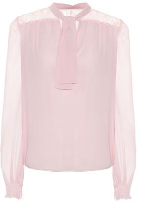 Giambattista Valli Silk-chiffon blouse