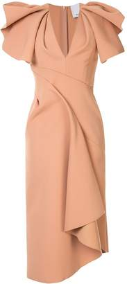 Acler Redwood ruffled-sleeve midi dress
