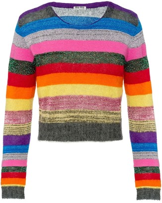Miu Miu Striped Lame Jumper