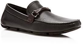 Salvatore Ferragamo Men's Granprix Textured Leather Drivers