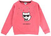 Karl Lagerfeld Cool Choupette Sweatshirt, Size 2-5