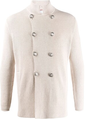 Brunello Cucinelli Double-Breasted Ribbed Cardigan